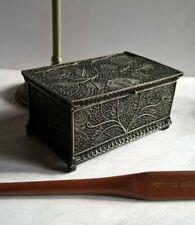 Amazing Antique All Filigree Solid Silver Snuff / Trinket Box