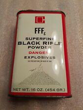 Vintage Goex Ffg Superfine Black Powder Can Tin Empty