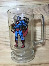 "Vintage 1978 DC comics SUPERMAN glass mug stein 5.5"" Retro"