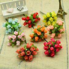 Mini Silk Roses Bouquet Garlands 12pcs For Home Wedding Decoration Accessories