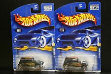 2 NEW HOT WHEELS '32 FORD VICKY 125 MATTE BLACK FLAMES 5PR