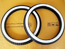 YAMAHA G6S G7S L5T RD60 U7E FRONT & REAR WHITE WALL TIRE SET DOT.STANDARD  mi