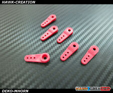 Strengthen Servo Horn for Hitec 65HB/MG 5065MG 995 999 Deko 1102 (Red,6pcs)