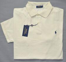 New 2XLT 2XL TALL POLO RALPH LAUREN Mens short sleeve polo shirt cream top 2XT