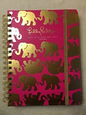 Large 7x9 LILLY PULITZER 17 Month 2016-2017 Agenda Tusk In Sun Pink Gold 162026