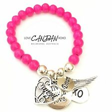 Sweet 16th Birthday Gift Bracelet Live Laugh Love Angel Wing Dream Xo Charms