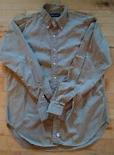 RALPH LAUREN Men's Dark Khaki 16.5-36 Long Sleeve Button Down Shirt