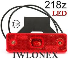 LED Umrissleuchte Markierungsleuchte Positionsleuchte Rot 12V 24V ABE 218p
