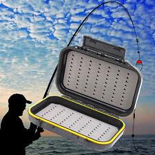 Waterproof Double Side Fly Ice Fishing Tackle Bait Hook Lure Storage Box Case w/