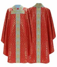 Red Gothic Chasuble with matching stole 777-C14 us