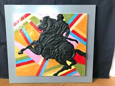 ROSENTHAL PORZELLAN Reliefplatte Sandro Chia, Porzellanobjekt Palio schwarz lim.