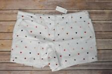"""Ann Taylor Loft Outlet 4"""" Shorts Women Size 14 White Arrow Pattern"""