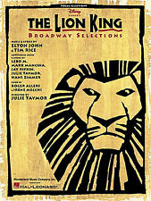 The Lion King Broadway Learn to Play ELTON JOHN PIANO Guitar PVG Music Book