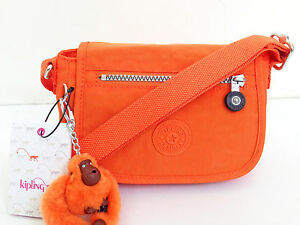 BNEW Authentic KIPLING Sabian AC7240 Crossbody Sling Bag Brite Orange FREE SHIP