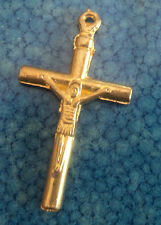 Modern Gold Metal Cross / Crucifix with Christ on the Cross