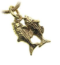 colgante de signo del Zodíaco PISCIS PLATA LEY 925 Macizo Horóscopo esterilina