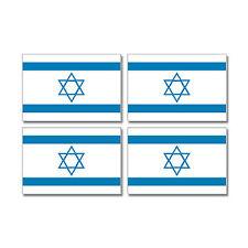 Israel Israeli Country Flag - Sheet of 4 - Window Bumper Stickers