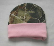 Mossy Oak Camo & Pink Baby Hat, Infant Girl Camouflage