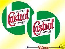 Castrol Wakefield Oil Historic Racing Sticker Pair 92mm