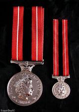 Canada Canadian Sacrifice Medal  Full Size Replica & Miniature size 2 set Medals