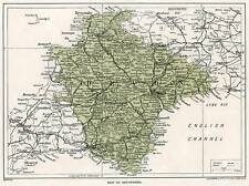 1923 map of England: old Devon antique ready-mounted print SUPERB