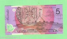 AUSTRALIAN $5 POLYMER FRASER/EVANS BANKNOTE NOTE Serial No.  EM 95408529