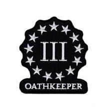 OATHKEEPER Three 3% Percenter Morale Hook Patch (MT01)