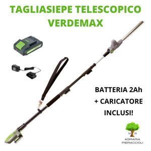 TAGLIASIEPE TELESCOPICO A BATTERIA 20V VERDEMAX TT20 + BATTERIA 2Ah e CARICATORE