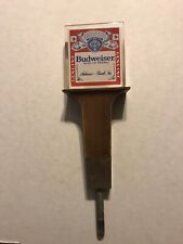 Vintage Budweiser 'King Of Beers' Lucite Beer Tap Handle Anheuser Busch Inc