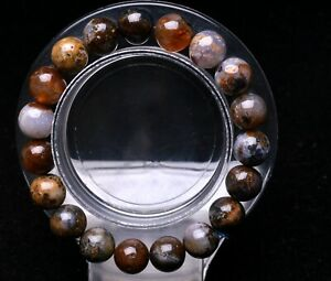 10mm Natural Starry Sky Agate Quartz Crystal Round Beads Bracelet AAA