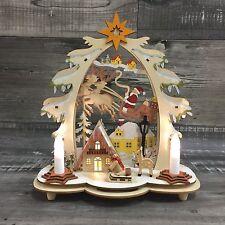 3D Schwibbogen Holz Weihnachtsdeko Lichterbogen Erzgebirge 28cm Tradition  NEU A