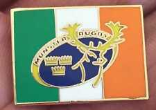Munster Rugby Unión Bandera Irlandesa Insignia Pin Esmalte