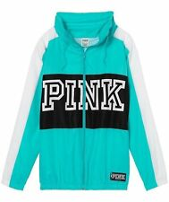 Victorias Secret Pink GRAPHIC Funnel Neck ANORAK Windbreaker Jacket NWT S