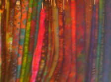 10 Yd Batik Quilt Fabic Lot Quilters Batiks Red Green Yellow Blue Purple Bown