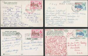 BERMUDA, 1963-65. Post Cards QEII (4),Paget, Somerset, Perot - U.S.-Sweden