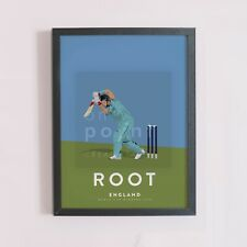 More details for joe root england cricket odi team art print - world cup winners a3 a4 poster