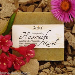 SAVION Haarseife Lavaerde/Rasul 85 g VEGAN, HAARWASCHSEIFE Shampoo GRATIS* Luffa