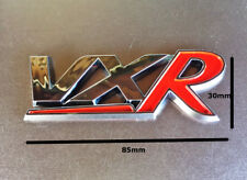 1 x 3D 85 x 30mm 'VXR' Badge Red & Chrome ABS New
