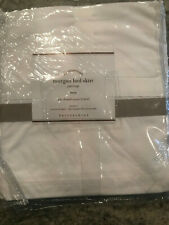 Pottery Barn Morgan Twin Bedskirt Simply Taupe New