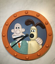 Rare Orange Wallace And Gromit Vintage Wall Clock 1998
