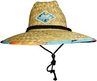 WAVE RUNNER Men's Beach Straw Hat- Wide Brim Sun Hat with UPF 50+ Protection