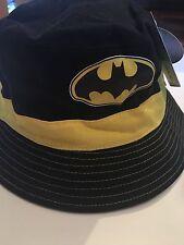 "DC COMICS ""Batman"" Reversable BLACK/GREY BUCKET HAT OSFA"