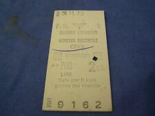 BIGLIETTO TRENO CARTONATO 1973 SAVONA LETIMBRO - GENOVA - CEVA - 700 L. 4-231/3