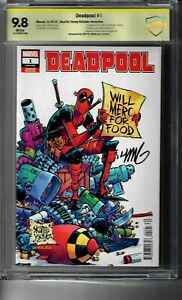 DEADPOOL #1 YOUNG RETAILER INCENTIVE SIGNED BY SKOTTIE YOUNG 9.8 CBCS NOT CGC
