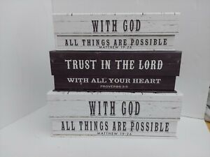 Tri-Costal Desing Paula Scaletta. Storage boxes with Bible  quotes.