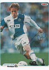 DAMIEN DUFF BLACKBURN ROVERS 1996-2003 ORIGINAL HAND SIGNED MAGAZINE CUTTING