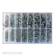 Assorted M3, M4, M5, M6, M8, M10, M12 & M14 Metric Zinc Flat & Spring Washers