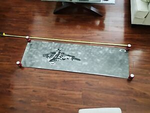 """NEW RARE 75"""" VINTAGE OAKLEY RICKY CARMICHAEL """"ICONIC"""" POSTER DISPLAY metal elite"""