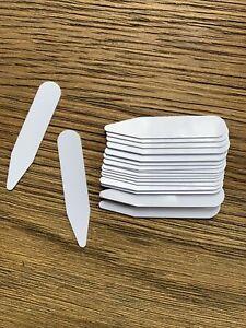 12 Pcs CollarStiffeners 5cm, Formal Men Shirt Bones Stays Inserts Plastic White