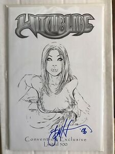WITCHBLADE #44 SKETCH EDITION (JAY COMPANY) SIGNED BY EBAS! 1/500 2004